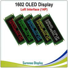 Real OLED Display, Left Parallel Interface Compatible with 1602 162 16*2 Character LCD Module Display LCM Screen build in WS0010