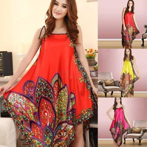Women Casual Long Chemise Nightgown Sleepwear 2