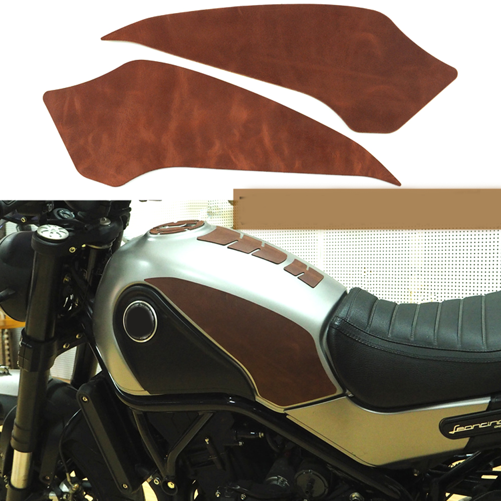 1 Set Motorcycle Gas Fuel Knee Grip Decal Gas Tank Traction Side Pad Protector For Benelli Leoncino 500 Bj500 Frames & Fittings