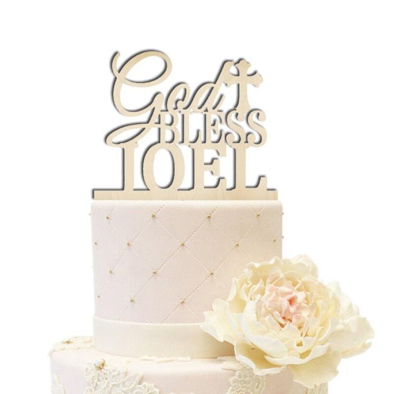 1ST Cumpleaños Chica Redonda Comestible Cumpleaños Cake Topper Decoración Personalizada