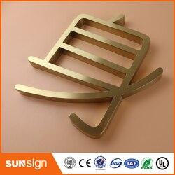 2016 new custom design in acciaio inox per esterni canale lettera signage