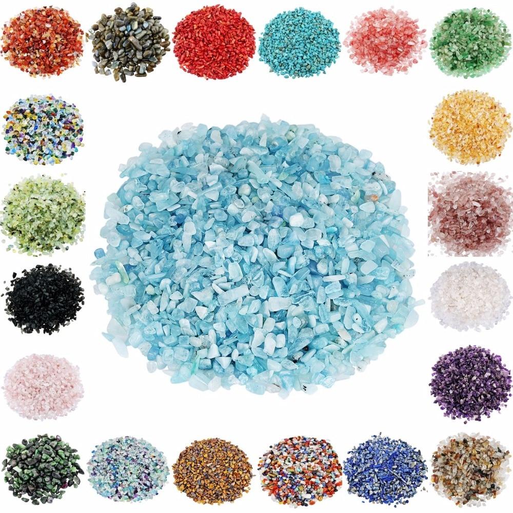 TUMBEELLUWA 1lb (460g) Natural surtido cristal cuarzo cayó piedra fuente jardín Mineral Decoración