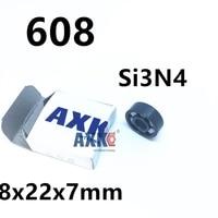 Бесплатная доставка Полный керамический Si3N4 подшипник 608 8x22x7 мм
