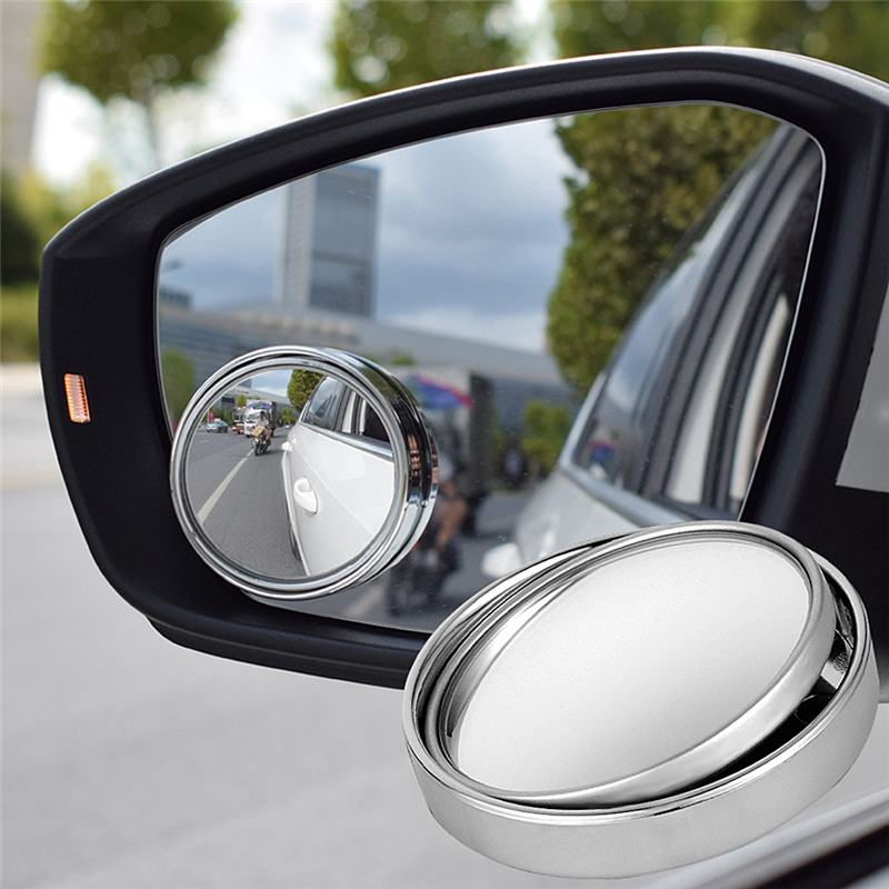 360 Rotary Push Car Rear View Small Round Mirror Large Vision Reverse Assist Blind Spot Mirror Car Accessories For Car Mirror