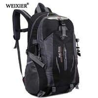Weixier softback moda bonito 2019 estudante dos homens à prova dwaterproof água náilon mochila escolar saco de viagem mochila andando