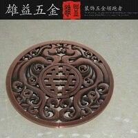 Semicircle handle door handle glass door / doors Handle / Chinese antique bronze pierced modern large handle