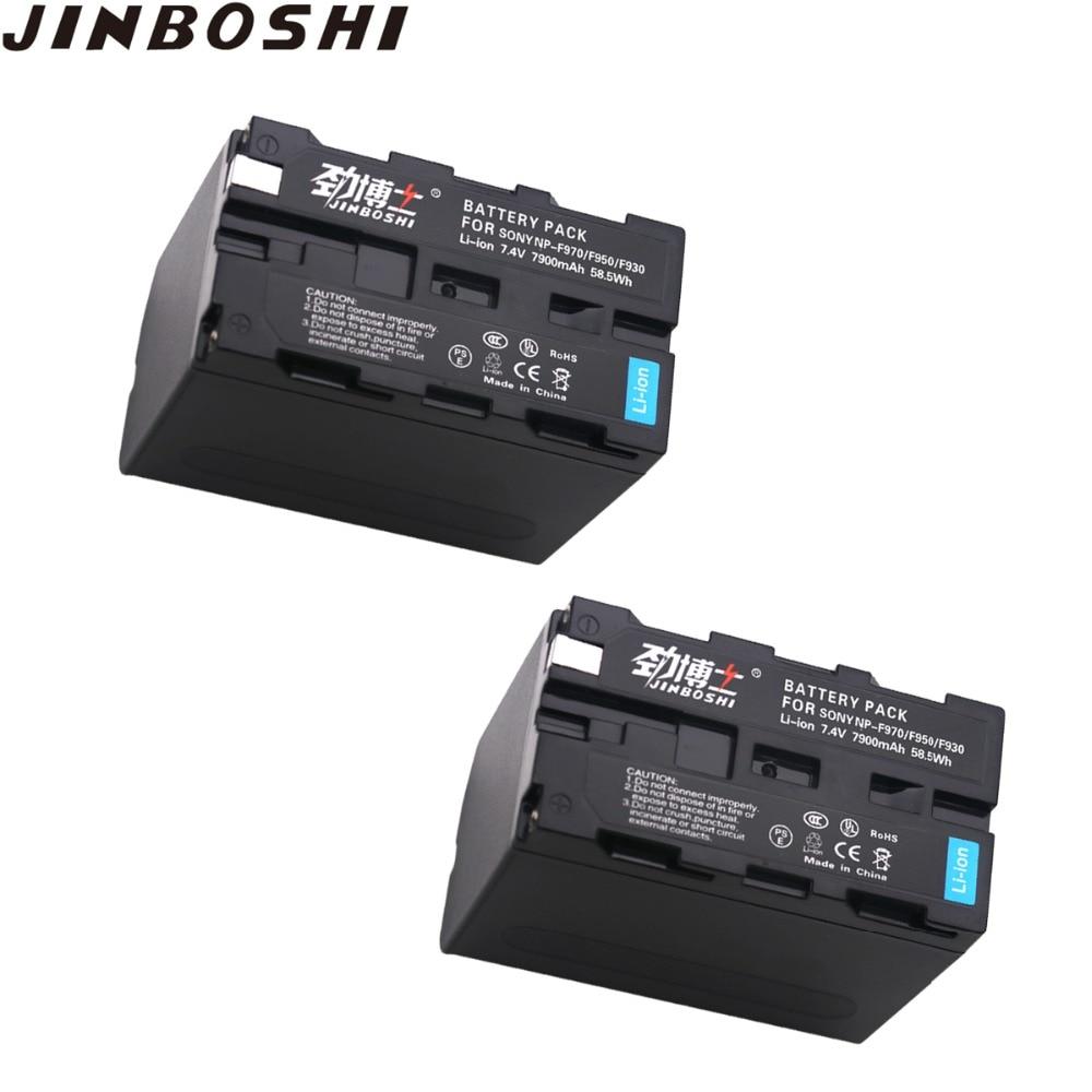 2 pièces NP-F970 NP F970 NPF970 Batterie rechargeable 7900 mAh batterie Appareil Photo pour SONY MC1500C 190 P 198 P F950 MC1000C TR516 TR555