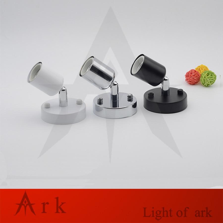 Universal 180 Degrés Direction led E27 Support de Lampe à Haute température résistant céramique Pied De Lampe De vis avec 80 MM couvert mur lampe