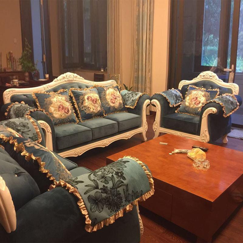 Light Blue Sectional Sofa Fabric  Living Room Sofa Set