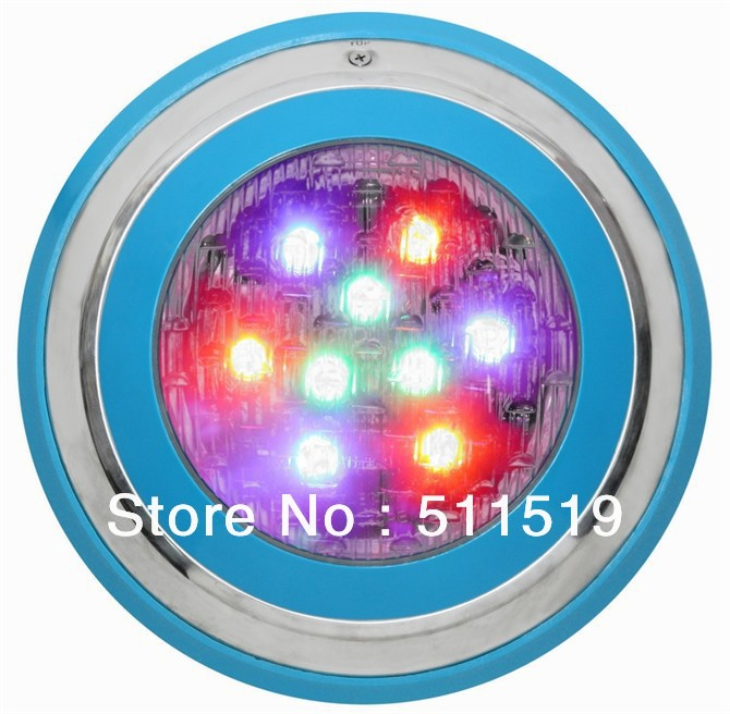 High Quality Wall Mounted 27w Rgb Led Swimming Pool Light High Quality With Remote Control