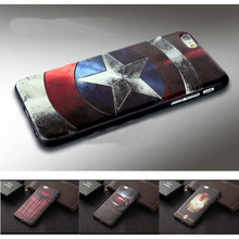 Marvel Spiderman Batman Captain America funds for iPhone 5 6 6s 7 Plus Soft Silicon 3D Stereo Relief Painting Phone Cases Cover(China)