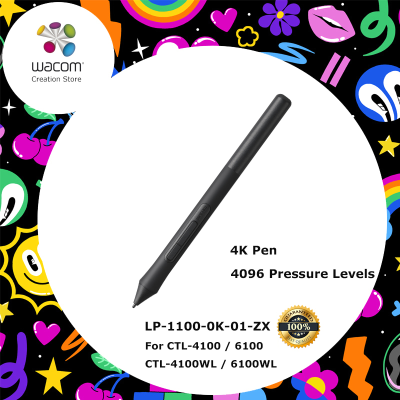 Nouveau Wacom Intuos Pen 4 K 4096 Niveaux de Pression pour Wacom Intuos CTL-4100/6100, CTL-4100WL/6100WL Numérique Dessin Comprimés