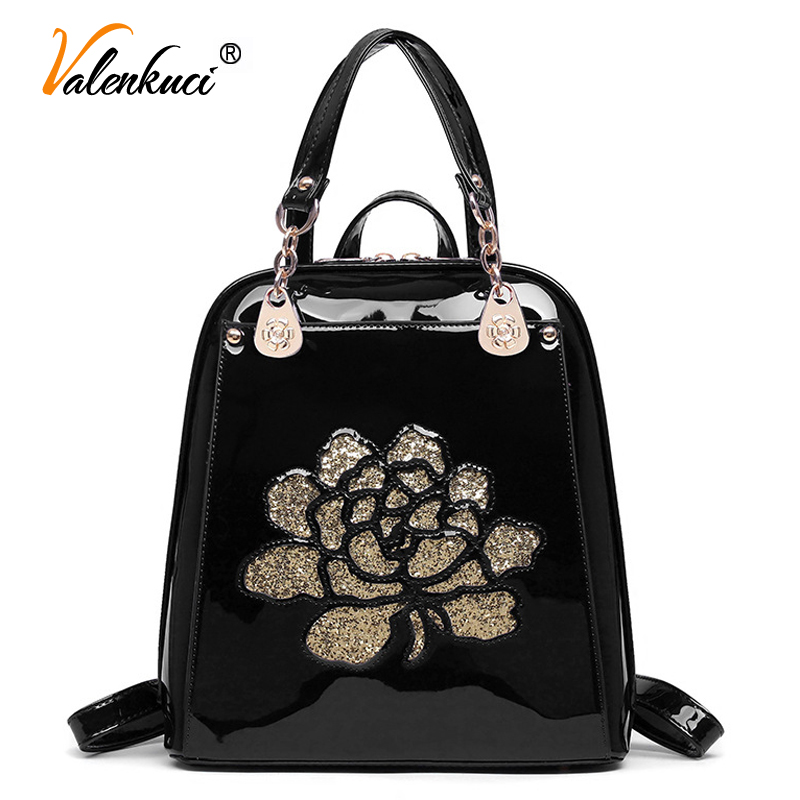 ФОТО Valenkuci women leather backpack women school bags for teenagers backpack fashion shoulder bags backpacks for girls BD-192