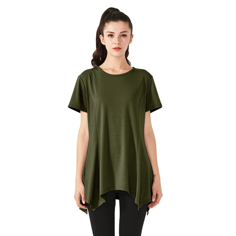 e212205d95b Women's Swing Tunic Tops Loose Fit Comfy Flattering T Shirt Summer Casual  O-Neck Short Sleeve Flare Tunic Tops Tees