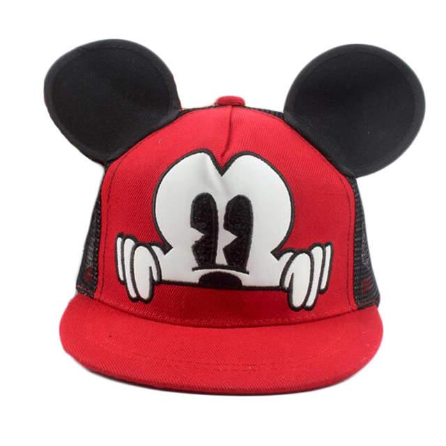 a528460c36349 placeholder Mickey ears baby sun hats children snapback Caps baseball Cap  winter summer toddler kids baby boy