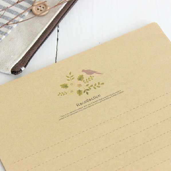 In The Old Days Letter Pad Letter Paper [ Magpie Series ] Kraft Paper Letterheads 8*5 Sheets