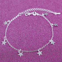 Women charm anklet star ankle tassel pendant foot chain gift  jewelry JK0001