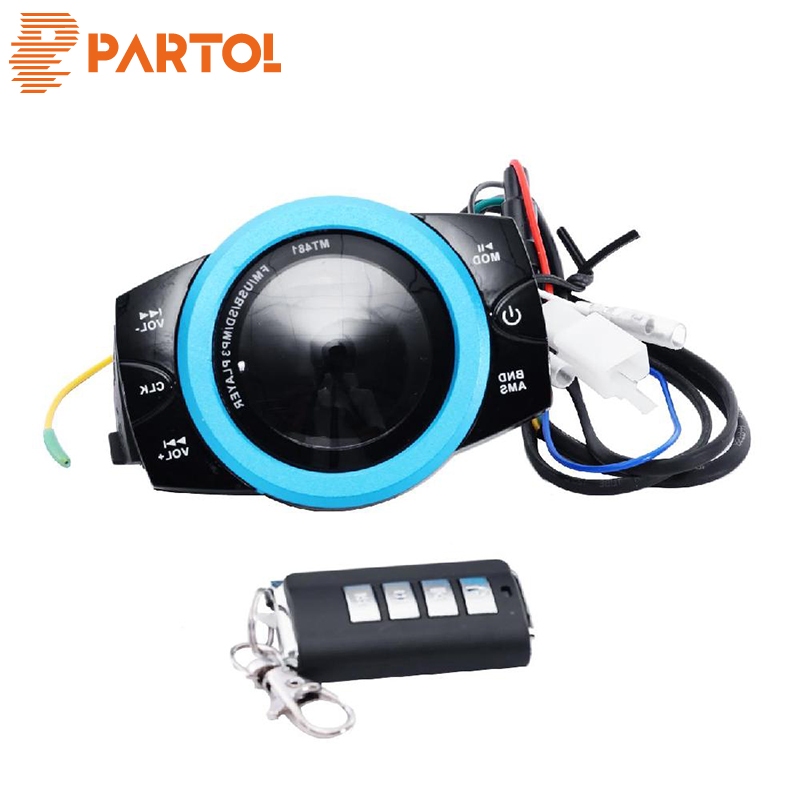 Partol Audio Lightweight Smart FM Motorcycle Anti-theft Audio Radio System Stereo Waterproof FM/TF/USB/SD/MP3