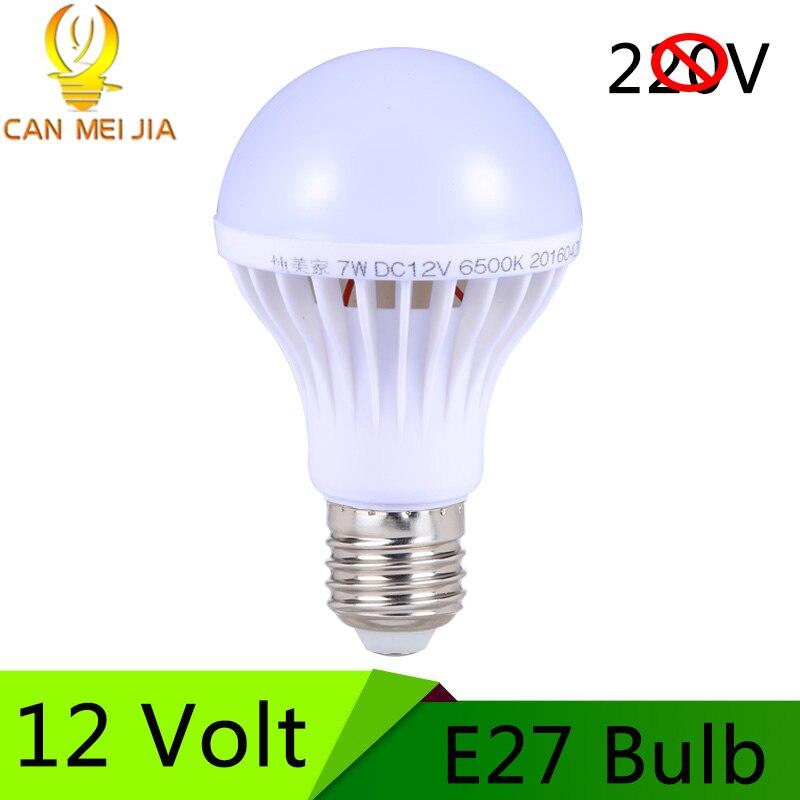 Led Bulb E27 12V LED Lamp 5W 9W 15W High Power 12 Volt Lampada Home Solar Motor Bulb DC12V For Outdoor Lighting Cold White