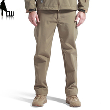 Shark Skin outdoors Thermal tactical Camouflag and hike pants for men softshell fleece