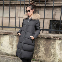 Womens Winter Jackets And Coats 2016 New Solid Zipper Slim Korean Fashion Women's Padded Jacket Long Down Factory Direct Supply
