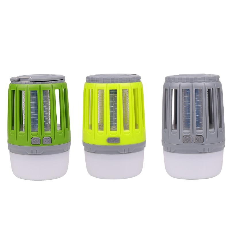 Trampa antimosquitos impermeable IP67 con carga USB, lámpara de luz nocturna LED, luces de insectos y bichos, repelente de plagas, luz de Camping 3