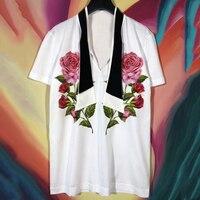 Dressnow для женщин футболка для лета хлопок 2018 короткий рукав Футболка цветочный принт