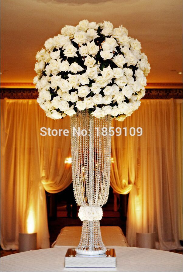 80cm Tall10pcs Flower Design Metal Wedding Centerpiece Stand With
