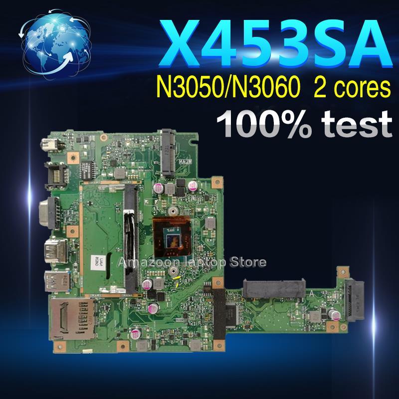 Amazoon X453SA Laptop Motherboard For ASUS X453S X453SA X453 F453S Mainboard  test 100% OK N3050/N3060  2 coresAmazoon X453SA Laptop Motherboard For ASUS X453S X453SA X453 F453S Mainboard  test 100% OK N3050/N3060  2 cores