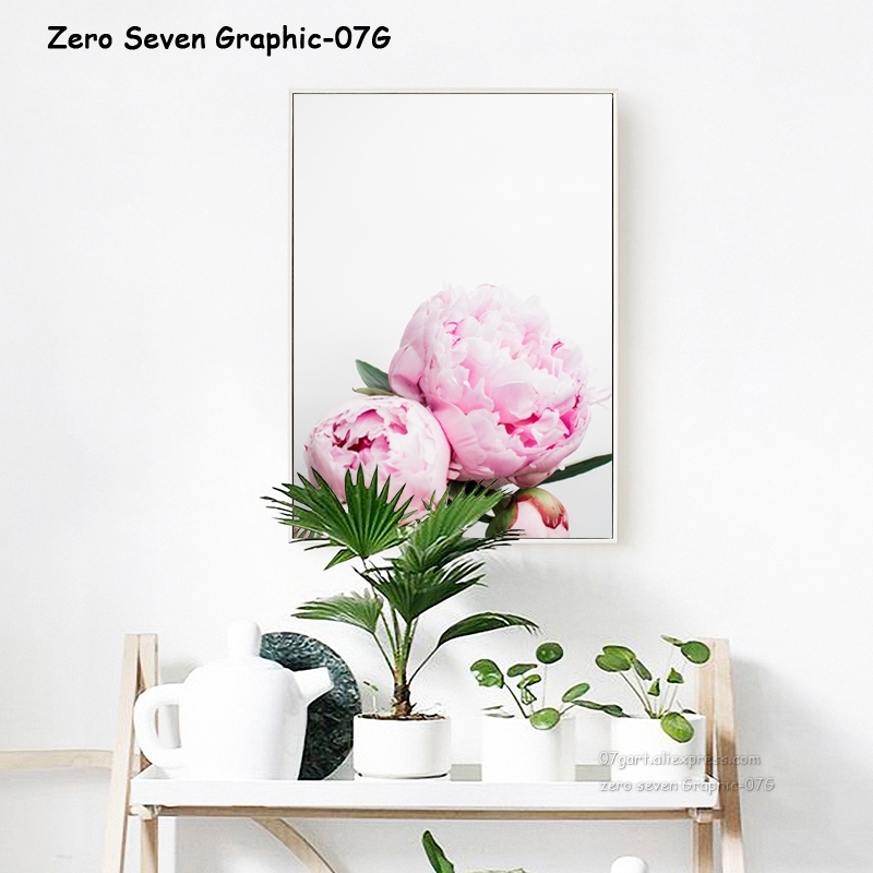 HTB16aFEJ4TpK1RjSZFKq6y2wXXa4 Canvas Painting Nordic Decor Elegant Peony Flower Phrase Poster And Print Wall Art Picture For Living Room Home Decoration