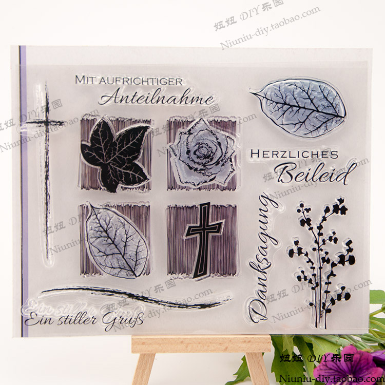 scrapbook rose and leaf desig 14CM*18CM  ACRYLIC clear STAMPS carimbo SCRAPBOOKING stamp free shipping stempel