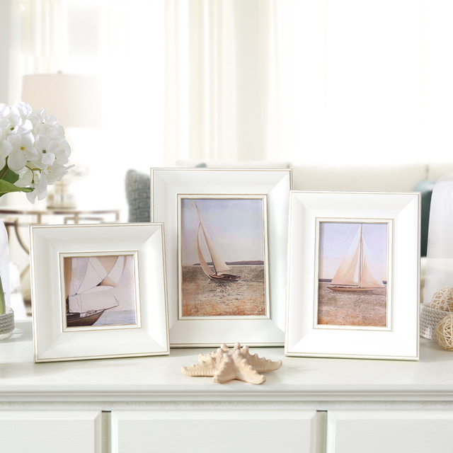 Plastic Photo Frames White Picture Frames For Baby Family Cadre