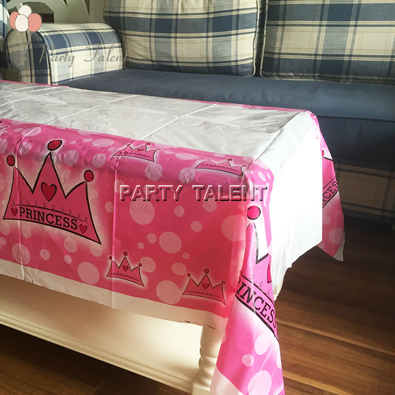 Party Supplies 1pcs Girl Princess Pink Party, Birthday Party Decoration  Waterproof One Off Table Cloth Table Cover