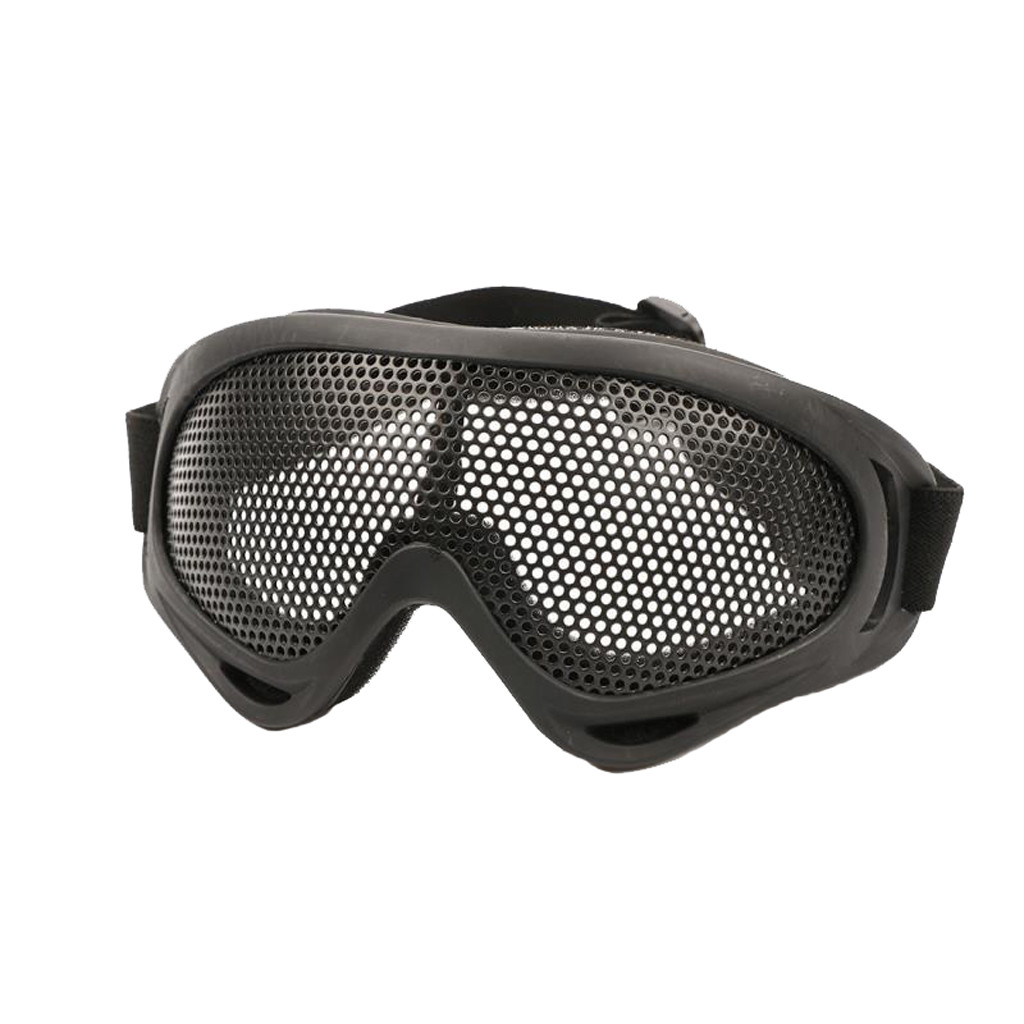 Outdoor Eye Protection Airsoft Tactical Glasses Goggles Anti Fog Metal Mesh #D