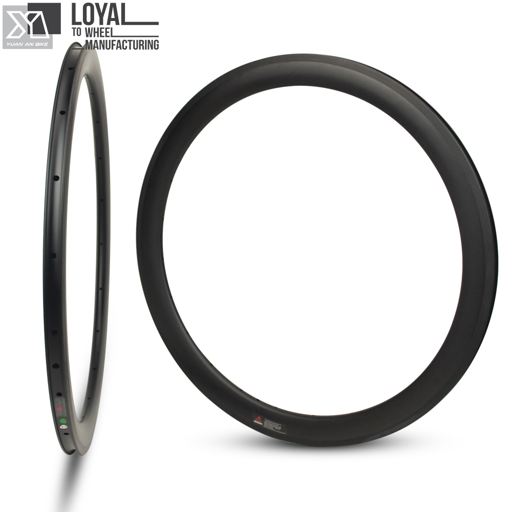 27mm Wider More Aero 50mm Carbon <font><b>Rim</b></font> 700c For Road Bike Gravel Bike Cyclocross Clincher Tubular Bicycle <font><b>Rim</b></font> 18/<font><b>20</b></font>/21/24 Hole image