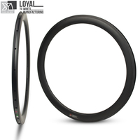 27mm Wider More Aero 50mm Carbon Rim 700c For Road Bike Gravel Bike Cyclocross Clincher Tubular Bicycle Rim 18/20/21/24 Hole