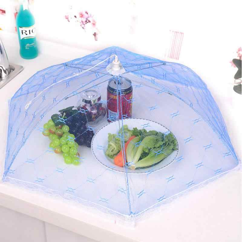 Kitchen Folded Food Cover Umbrella Hexagon Gauze Hygiene Anti-mosquito Food Cover Grid Style Umbrella Style Food Dish Cover #20