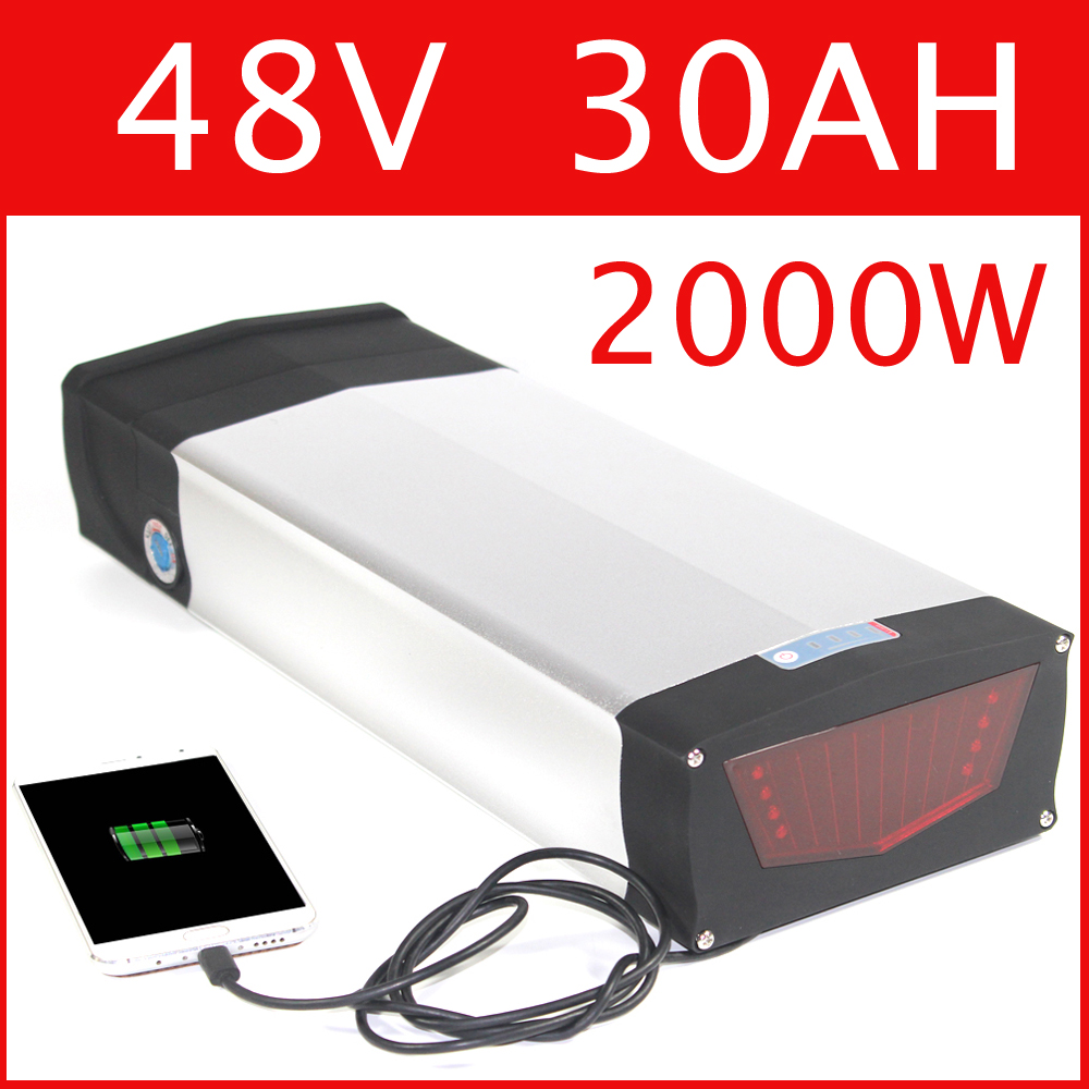 E Bike 48v 30ah Lithium Ion Battery Ncr18650b Cells 48v