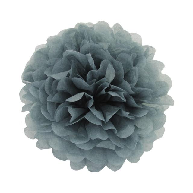 10 pieces per lot grey color tissue paper pom poms paper flowers 10 pieces per lot grey color tissue paper pom poms paper flowers themed party decoration favor mightylinksfo