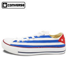 Sneakers Women Men's Converse Chuck Taylor Cuba Flag Custom Design Hand Painted Low Top Canvas Shoes Unique Gifts