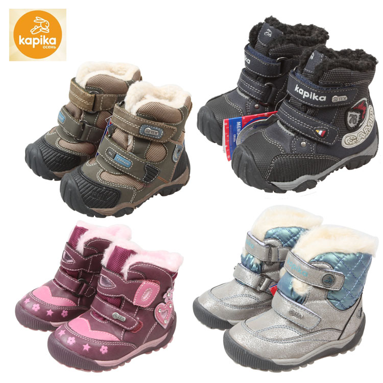399ddff8048a Kids Kapika snow boots baby boys snow shoes children winter boots wool  waterproof anti-slip claw winter shoes kids boots winter