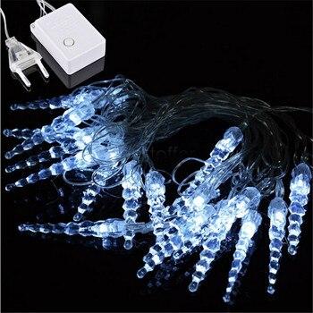 10 M 50 luces LED de cadena de hielo Año Nuevo Navidad boda fiesta Led luces de hadas