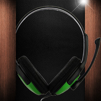 Hot Sale Adjustable TOP Gaming Headset Wired Earphone Headsets Mic Microphone For Xbox360 Black Green