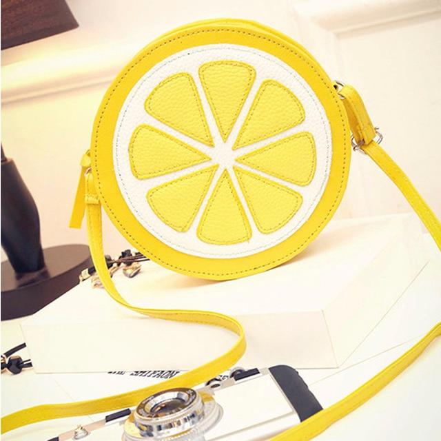 Summer S Fruit Lemon Bag Cute Women Handbag Messenger Crossbody Bags For Beach Travel