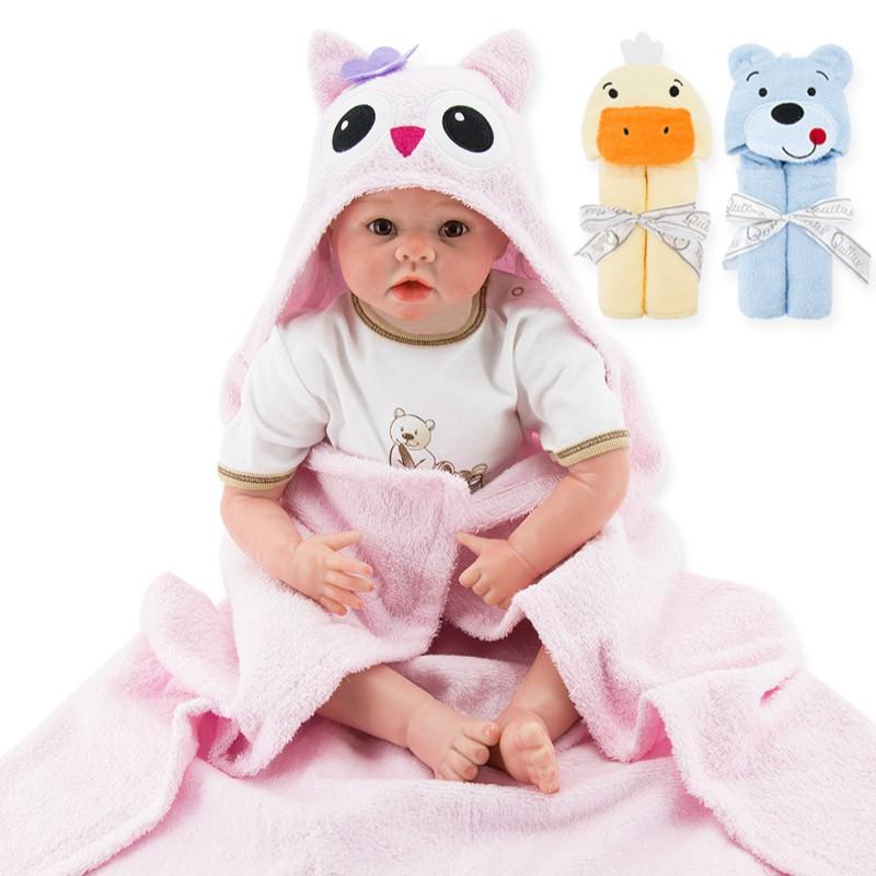 1 Piece Baby Kids Hooded Bath Towel Cartoon Baby Bathrobe Fashion Designs Hooded Animal Modeling Infant Bathrobe Kids Bath Robe (2)
