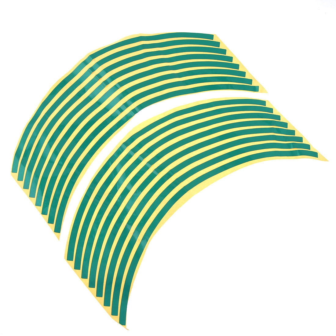 UXCELL 16 Pieces Adhesive Car Motorcycle Wheel Stickers Decals Ornament Green 13