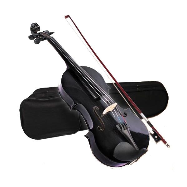 4/4 ACOUSTIC Violin + CASE + BOW + ROSIN WHOLE VIOLIN SET-Black4/4 ACOUSTIC Violin + CASE + BOW + ROSIN WHOLE VIOLIN SET-Black
