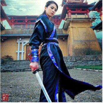 New style Hanfu men and women swordsman costumes heroes costume Hanfu ancient knight assassin samurai costumes недорого