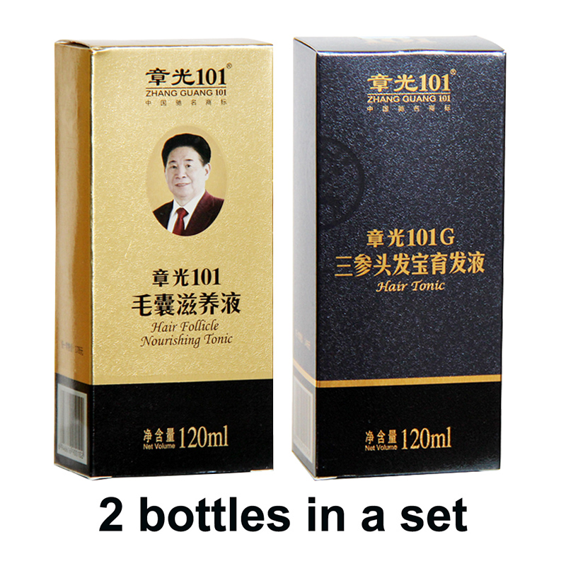 Zhangguang <font><b>101</b></font> <font><b>Hair</b></font> Follicle Nourishing Tonic + 101G, 2 pieces in a lot Anti <font><b>hair</b></font> loss <font><b>Hair</b></font> Regrowth sets 100% original image