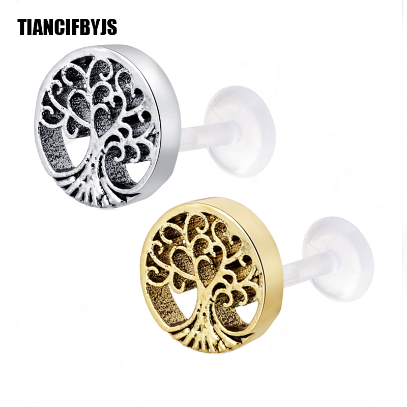 TianciFBYJS UV Bofilex TreeTragus Cartilage Piercing Stud Bar Ear Ring Lip Labret Ring Bar Stud Body Piercing Jewelry